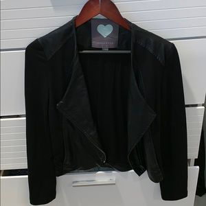 kendall and kylie half leather half jacket